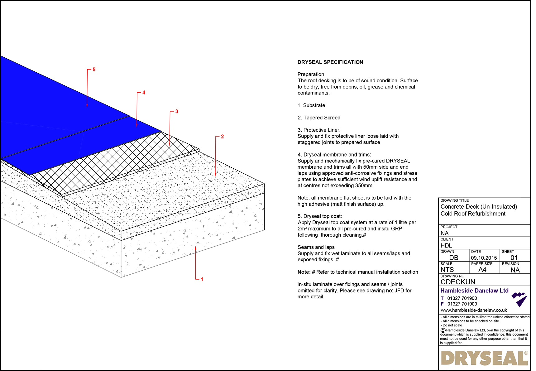 Concrete Deck Cold Roof Dryseal Roofing