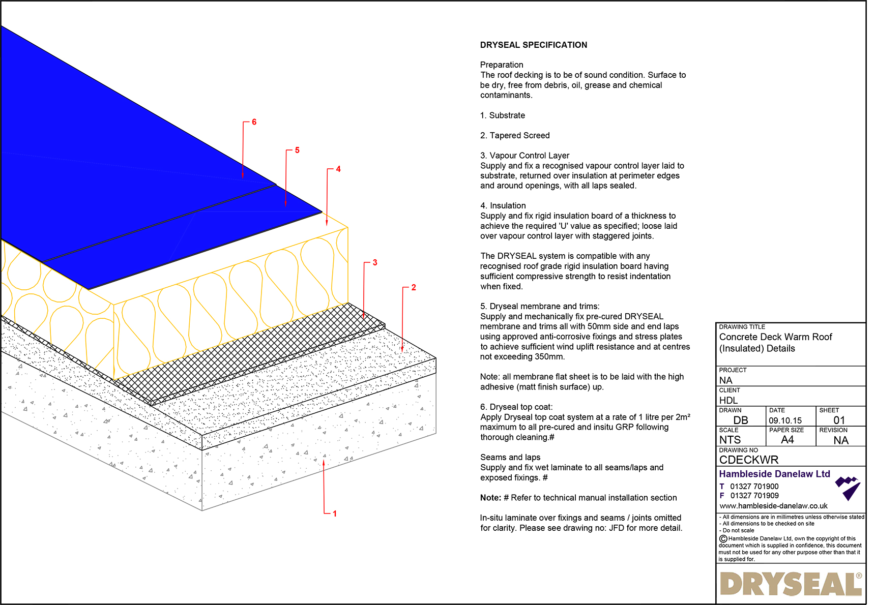 Concrete Deck Warm Roof Dryseal Roofing