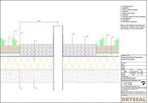 Dryseal Drawing Cold Pipe Penetration Detail