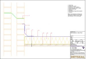Dryseal Drawing Wall Abutment Detail Warm Roof