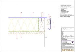 Dryseal Drawing Flat Edge or Drip Edge