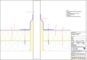 Dryseal Drawing Hot Pipe or Flue Penetration