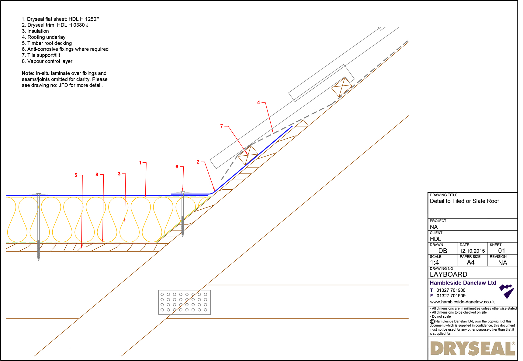 Layboard Detail Dryseal Roofing