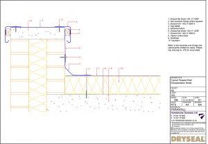 Dryseal Drawing Parapet Wall Encapsulation