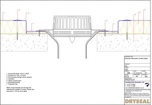 Dryseal Drawing Internal Rainwater Outlet