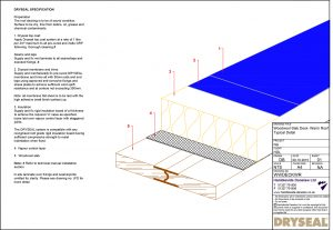 Dryseal Drawing Woodwool Slab Deck