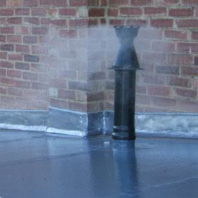Hot Pipe or Flue Penetration In Situ